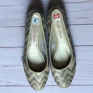 Elaine Turner• Gold and silver • Flats.• NWT • 6M